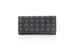 MCM * MCM Color Visetos Large Tri-Fold Wallet Black
