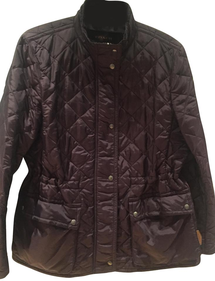 Coach Purple Quilted Jacket Puffyski Coat Size 12 L Tradesy