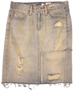 AG Adriano Goldschmied Jeans Pencil Designer Jean Skirt Light Blue