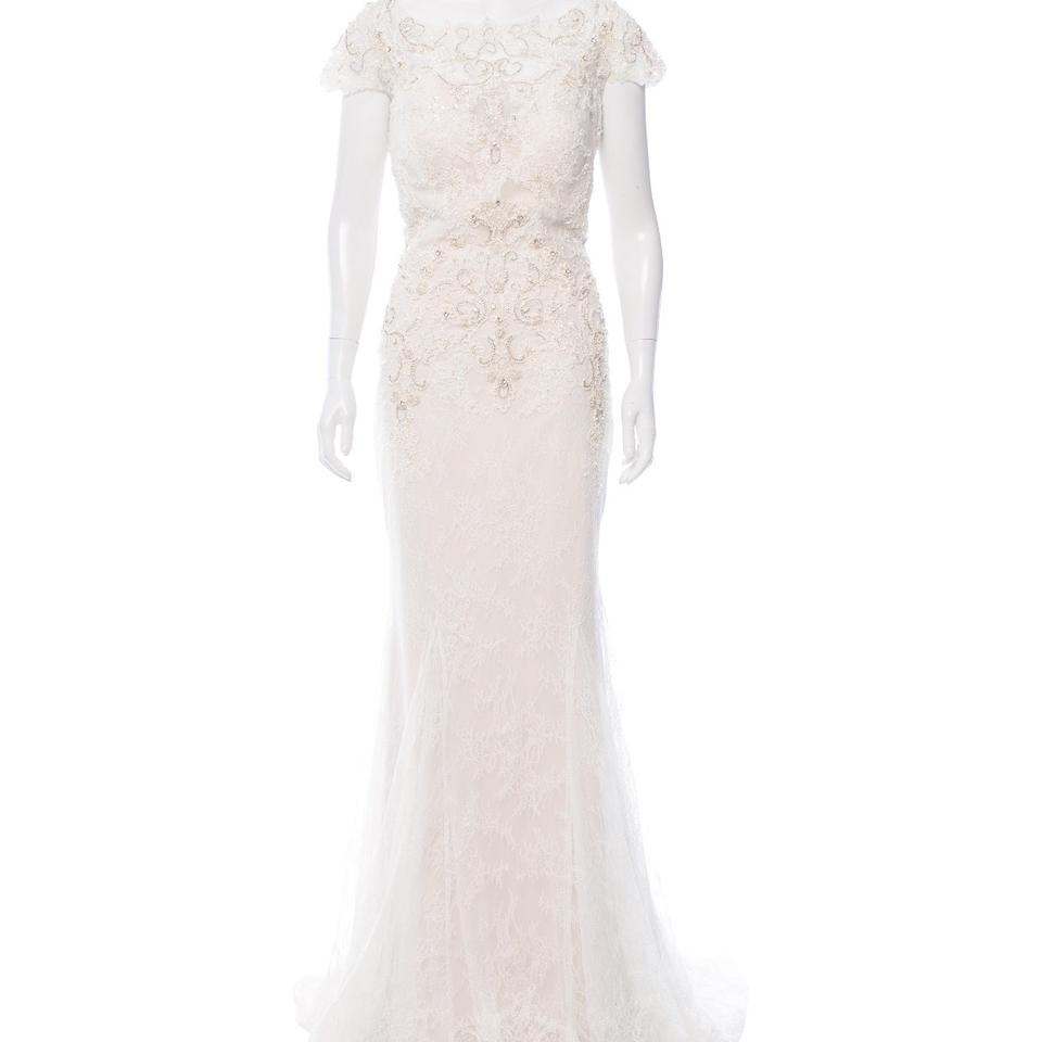 Badgley Mischka Ivory Lace Overlay - - Embellishments Lombard Gown ...
