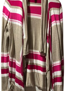 INC International Concepts Sweater Pink Spandex Cardigan