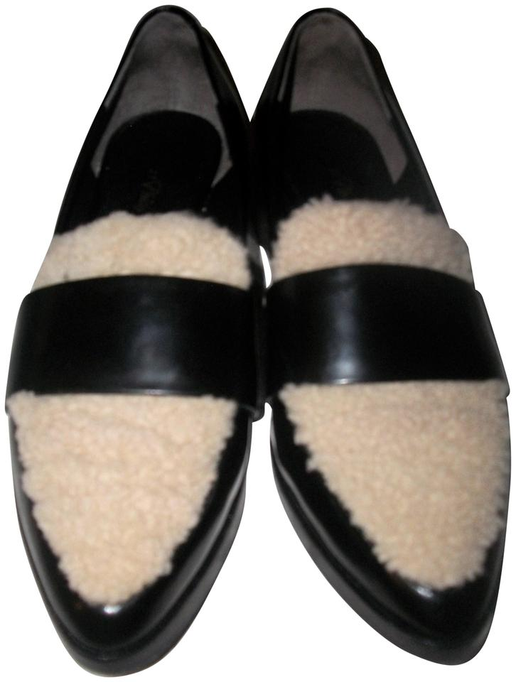 3.1 Phillip Lim Black Sheep 2 Tone Leather and Sheep Black Skin Spectators and 37.5 Pumps 300a8c