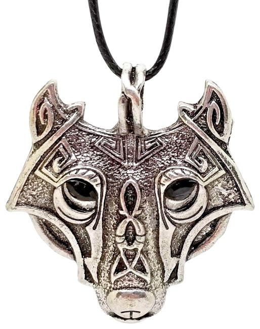 """Item - Silver Celtic Dog Or Wolf Leans More In The Wolf Direction - Pendant 16"""" 2"""" Necklace"""
