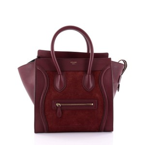 Cline Luggage Suede Tote in Red