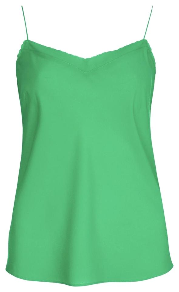 7effabe049c015 Ted Baker Green Scalloped Edge Camisole In Tank Top Cami. Size  8 (M) ...