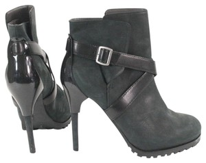 United Nude Suede Strappy Stilletto Ankle Black, Gray Boots