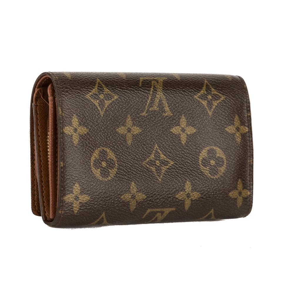 louis vuitton brown monogram canvas porte monnaie viennois pre owned wallet tradesy. Black Bedroom Furniture Sets. Home Design Ideas