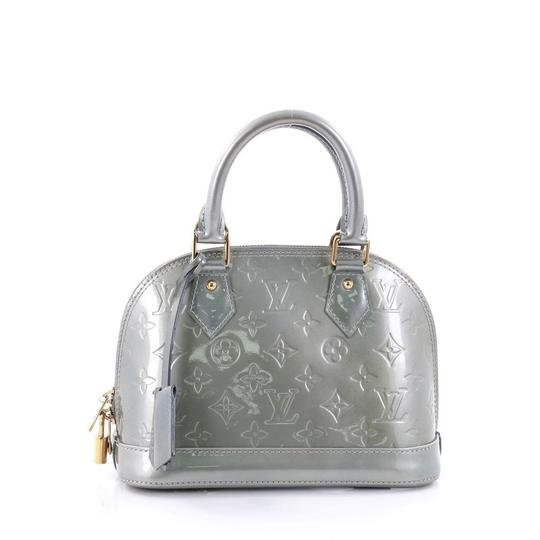 Louis vuitton silver vernis alma satchel tradesy for Louis vuitton silver alma miroir