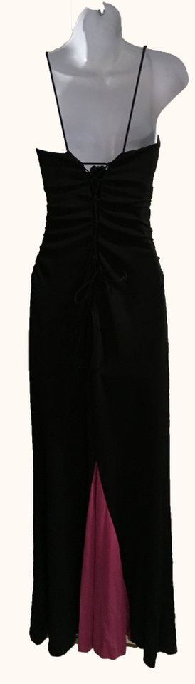 Nicole Miller Black Fuscia With Tail Formal Dress