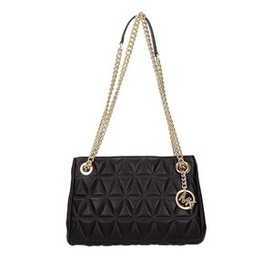 53b988cd53f3 Michael Kors Scarlett Quilted Medium Black Leather Shoulder Bag ...