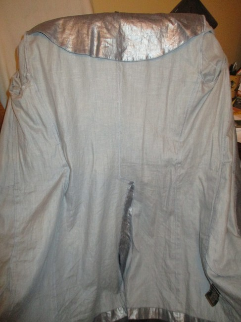Silver Belted Rain Coat Size 2 (XS) Silver Belted Rain Coat Size 2 (XS) Image 11