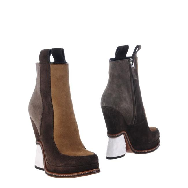 Item - Brown Yellow White New Boots/Booties Size EU 37.5 (Approx. US 7.5) Regular (M, B)