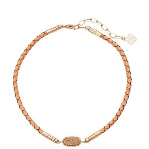 Kendra Scott Cooper Choker Braided Leather w/ Gorgeous Drusy
