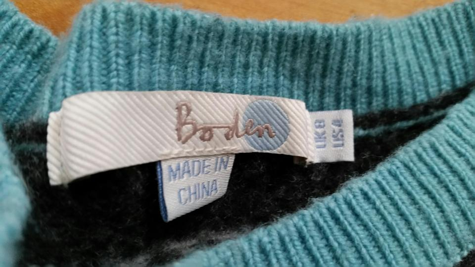 boden teal aqua blue fair isle wk868 sweater pullover size. Black Bedroom Furniture Sets. Home Design Ideas