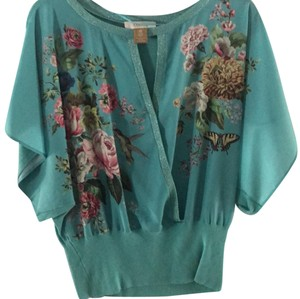 Oasis Top Teal and multi colors