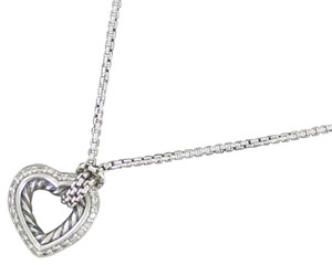 David Yurman Petite Diamond Cable Heart Pendant