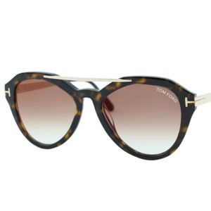 1e90aaeb0e864 Tom Ford New 2018 Tom Ford Lisa-02 FT0576 Women Aviator Brow-Bar Sunglasses