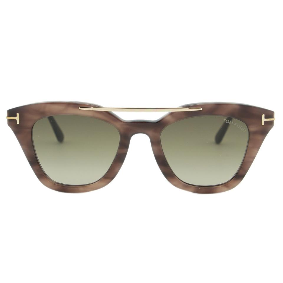 6a01905c2f Tom Ford Light Havana New 2018 Anna-02 Ft0575 Women Brow-bar Cat-eye  Sunglasses - Tradesy