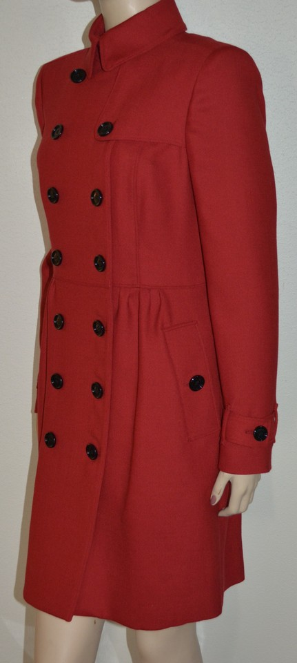 0ae3c917 Burberry Red Womens Wool Twill Dress Jacket Us Eu 40 Coat Size 6 (S) -  Tradesy