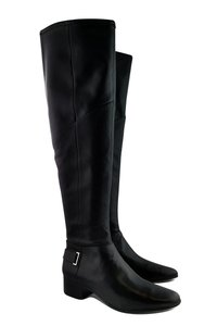 Halston Tall Leather Black Boots