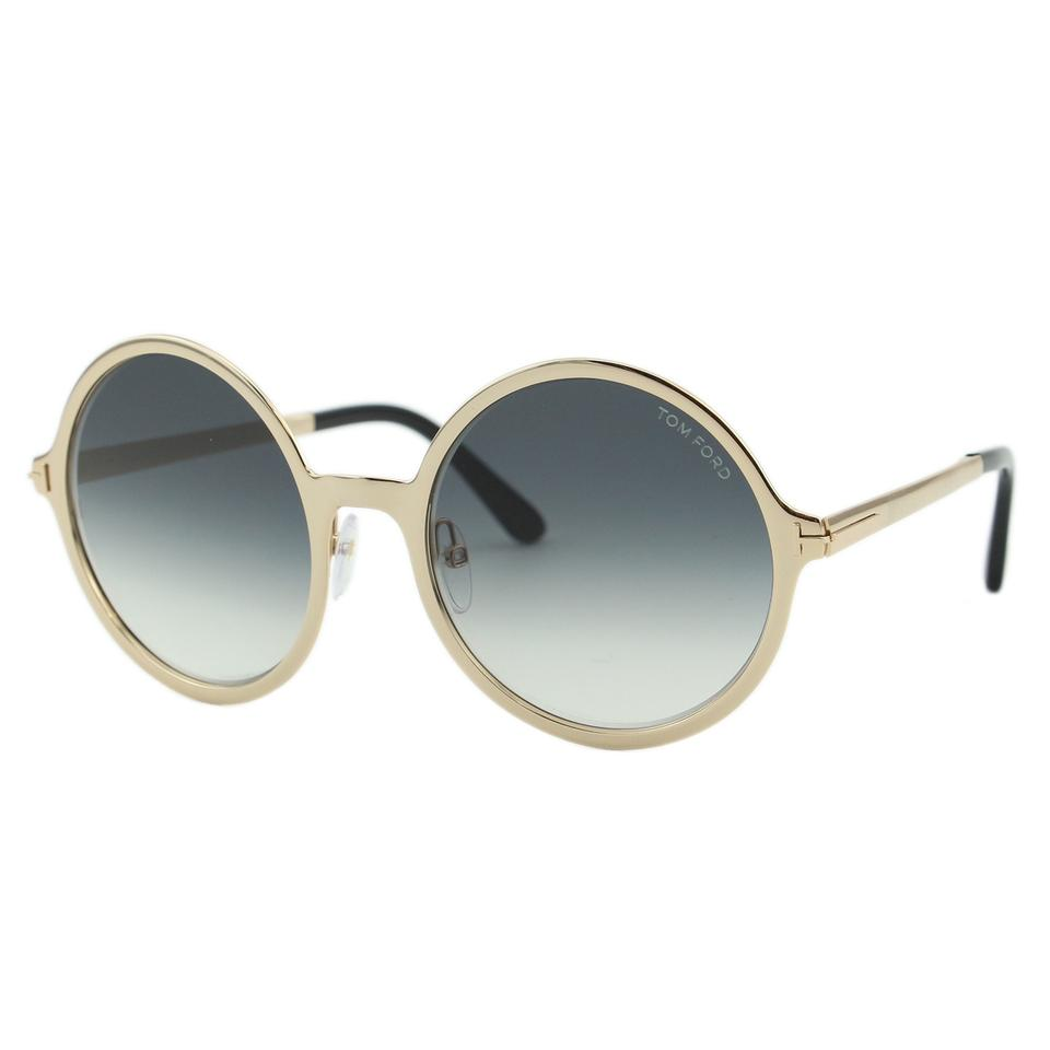 d4ffaa388b9e Tom Ford New 2018 Tom Ford Ava-02 FT0572 Women Round Oversize Metal  Sunglasses Image ...