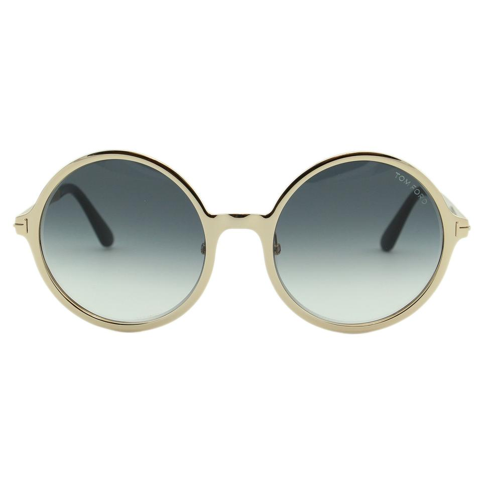 20bd706d5776 ... Tom Ford Ava-02 FT0572 Women Round Oversize Metal Sunglasses Image.  12345678