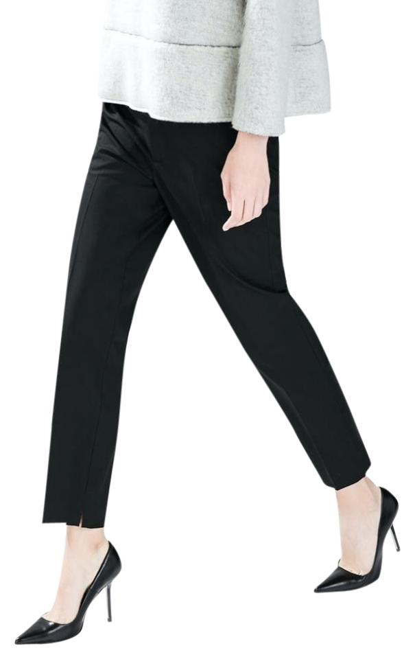 Zara Office Trousers Straight Pants Black