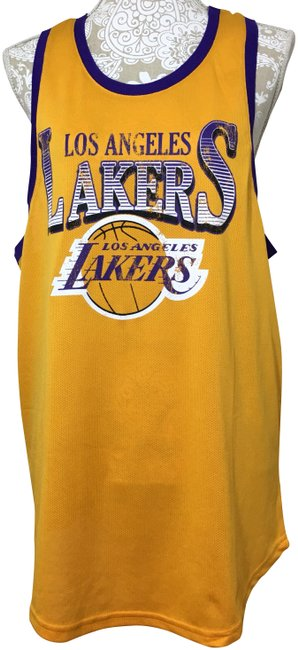 Item - Yellow Purple Jersey Nba Los Angeles Lakers Racer Back Tank Top/Cami Size 6 (S)