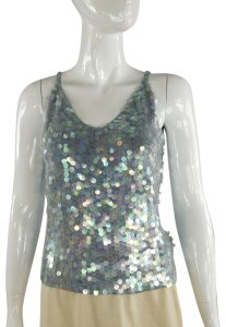 Laundry by Shelli Segal Iridescent Pailette Top Purple