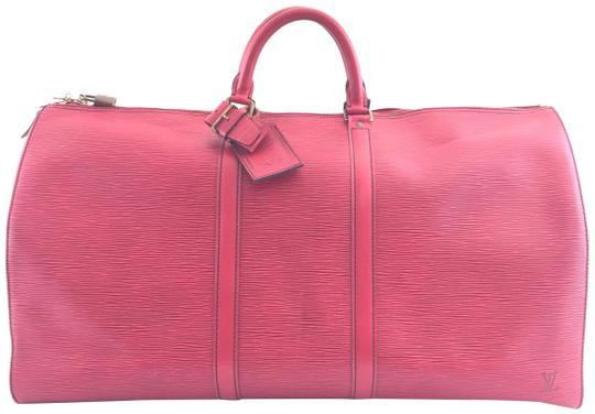 Preload https://item1.tradesy.com/images/louis-vuitton-keepall-55-red-leather-weekendtravel-bag-22664535-0-2.jpg?width=440&height=440