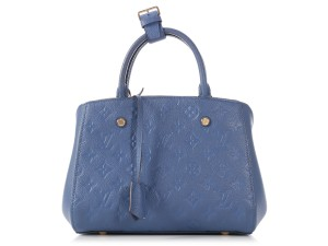 Louis Vuitton Lv.l1017.14 Embossed Gold Hardware Mini Small Satchel in Blue