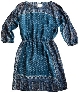 Joie short dress Teal, brown on Tradesy