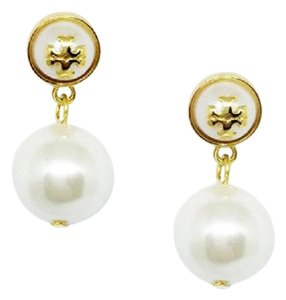 Tory Burch New Tory Burch Melodie Pearl Drop Earrings Ivory