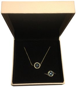 PANDORA Midnight Blue Radiant Hearts Necklace and Ring