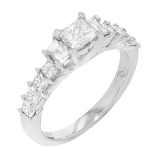 White Princess Cut Diamond 1.25cts (13224) Engagement Ring