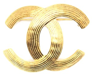 Chanel #16130 Rare CC XL oversized Large gold hardware brooch pin charm