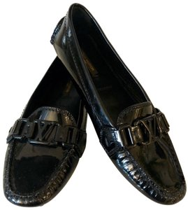 Louis Vuitton Patent Loafer Black Flats