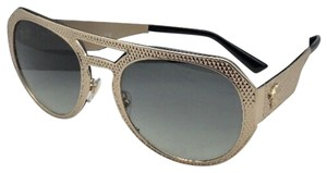 6500748d6c9a Versace New VERSACE Sunglasses VE 2175 1252 11 60-17 Pale Gold Aviator w