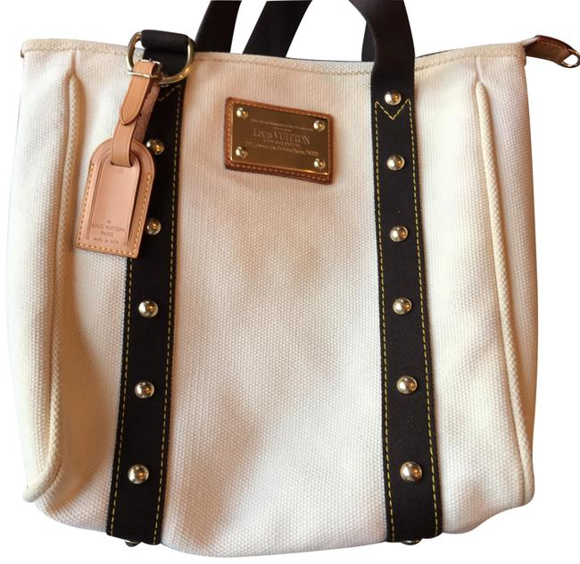 Item - Cabas Ecru Tote Ivory Canvas Beach Bag