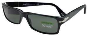 Persol New Polarized PERSOL Sunglasses 2747-S 95/48 57-16 Black w/ Green