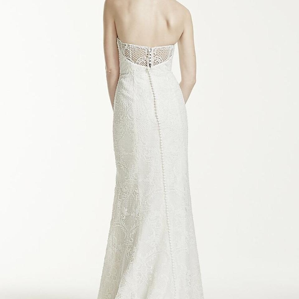 Ivory Lace Vintage & Pearl Beaded Strapless By Davids