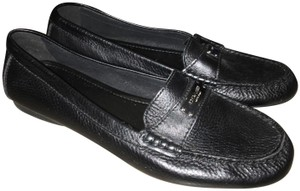 Coach Leather Black Flats