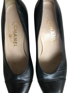 Chanel Navy and Black Pumps