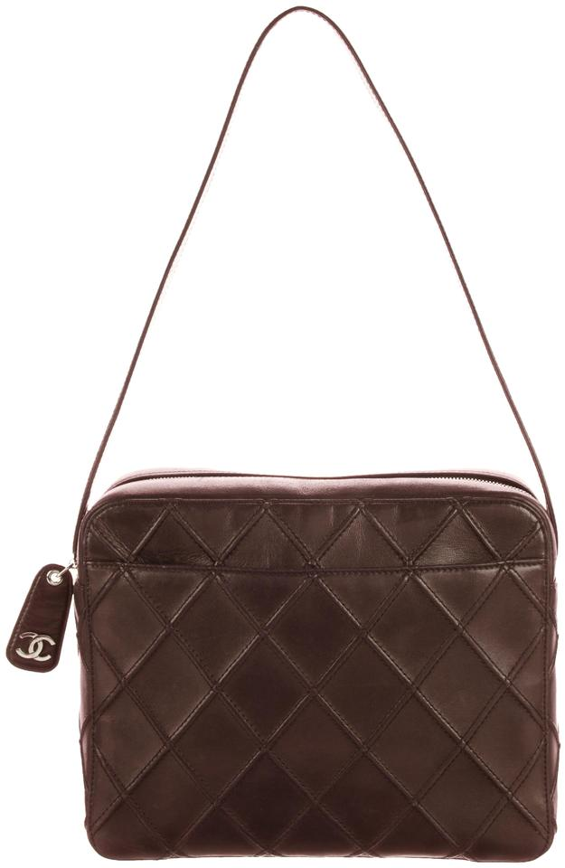 0314ed0cace0 Chanel Camera Vintage Cc Logo Classic Medium Thick Quilt Flap Brown Lambskin  Leather Shoulder Bag
