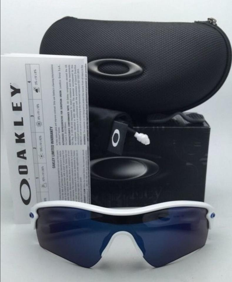 179bae744c1bf Oakley New Oakley Sunglasses RADAR PATH 09-766 White Frame w Ice Iridium  Image. 123456789101112