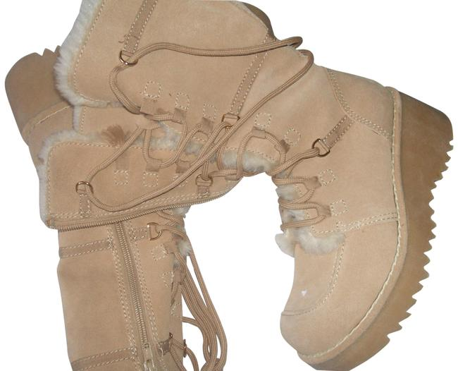 Item - New Women's Leather Upper Tan M New Boots/Booties Size US 6 Regular (M, B)