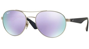Ray-Ban Free 3 Day Shipping New RB 3536 019/4V Silver Purple Mirrored