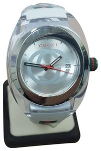 Gucci Sync XXL White Rubber White Dial Watch YA137102