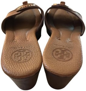 Tory Burch Wedges Brown Pumps