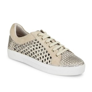 Joie Sneaker Woven Balenciaga Leather Gold Athletic
